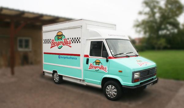 Camion Restaurant Burger Bus