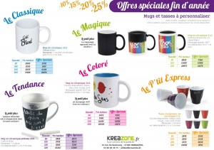 offres speciales mugs personnalisés kreazone